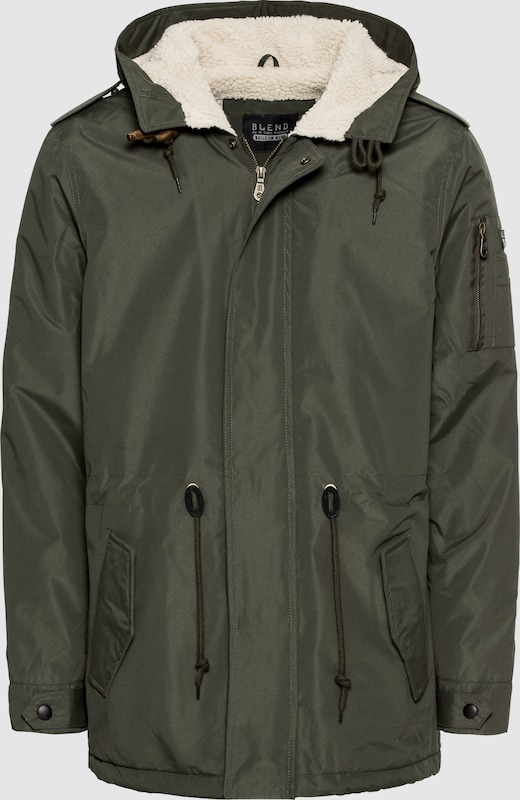 BLEND Jacke 'Outerwear' in khaki  Bequem und günstig