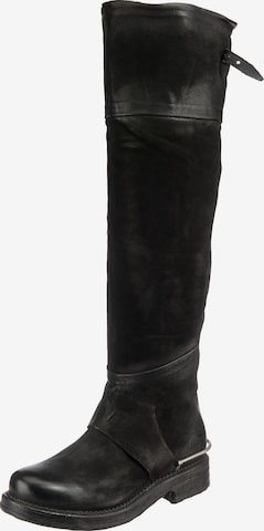 A.S.98 Over the Knee Boots in Black