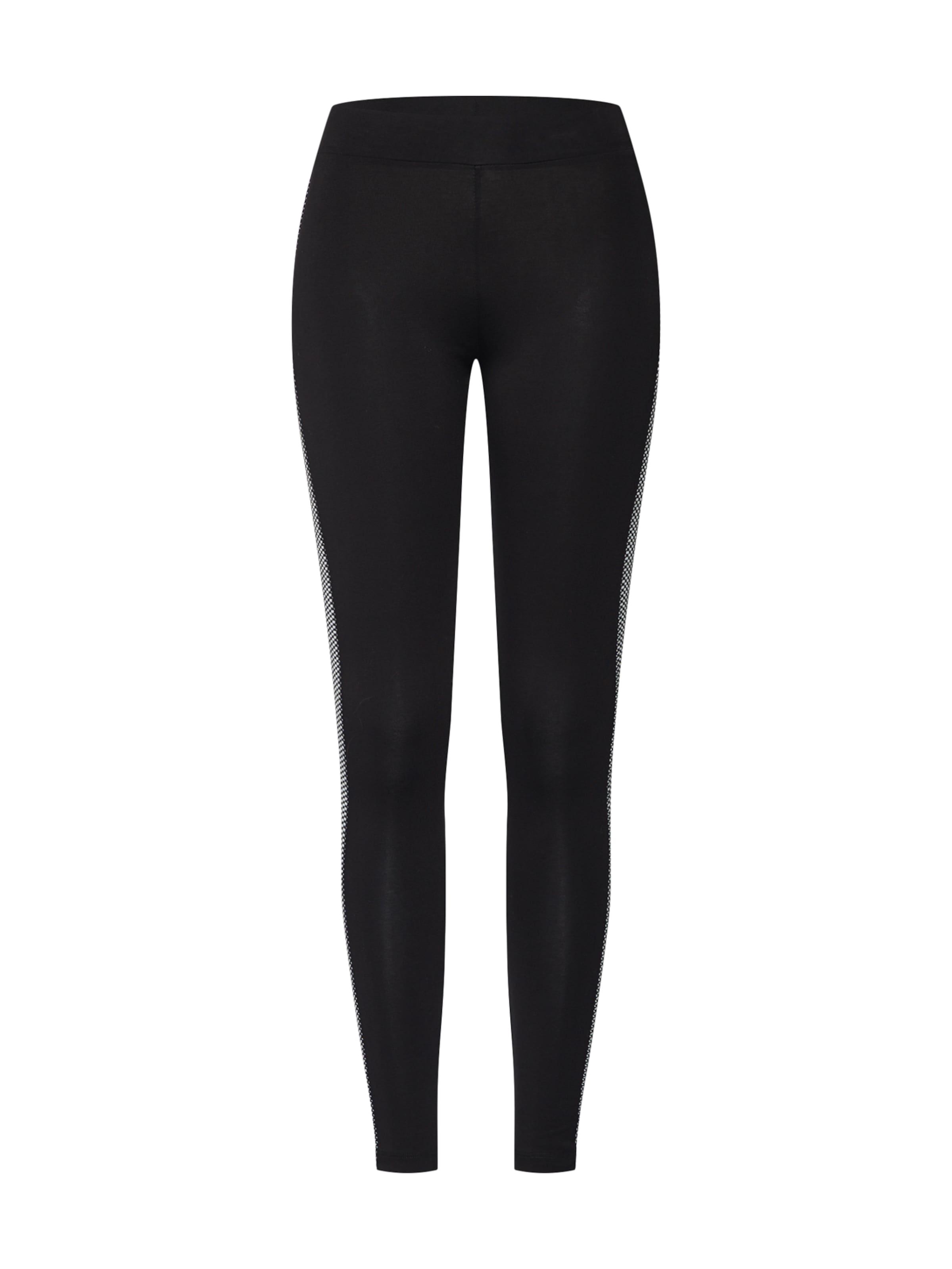 NEW LOOK Leggings i svart / vit