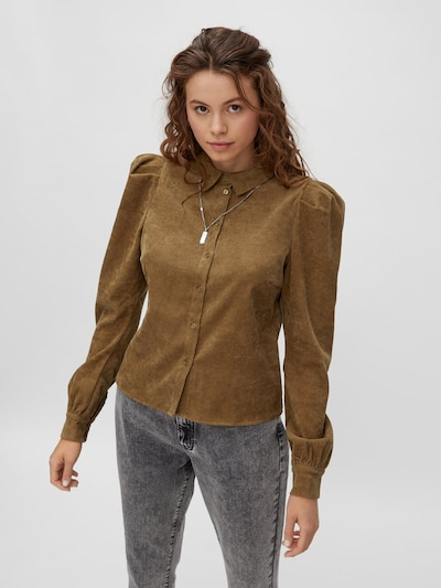 Noisy may Bluse in khaki, Modelansicht