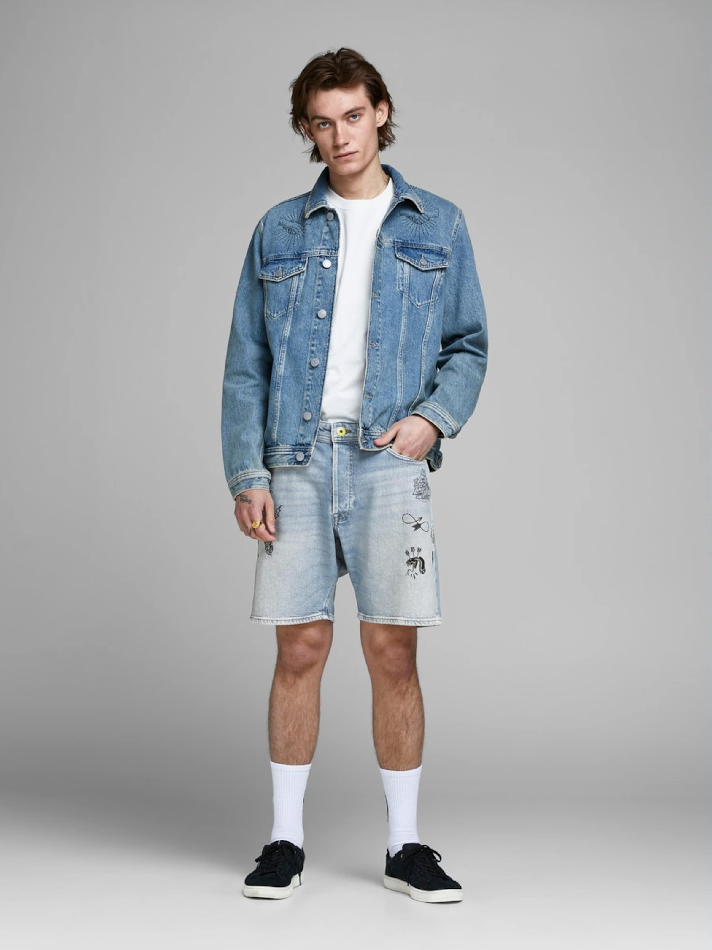 Jones Denim Bleu Jean Jackamp; En tQBChdsrx