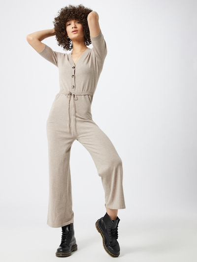 Fashion Union Overall 'BISBEE' in taupe, Modelansicht