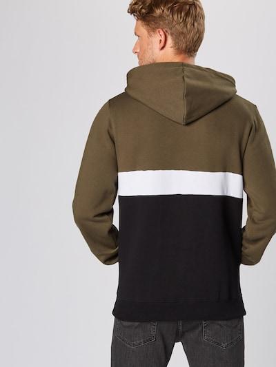 Iriedaily Sweat-shirt 'Court' en olive / noir / blanc: Vue de dos