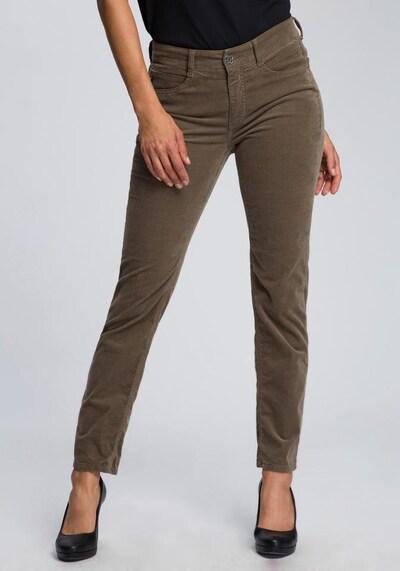 MAC Stretch-Jeans »Angela Cord« in khaki, Modelansicht