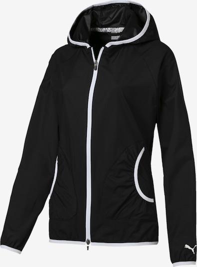PUMA Golf Jacke 'Zephyr' in schwarz / weiß, Produktansicht