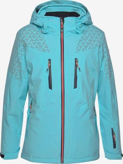 KILLTEC Skijacke in hellblau / grau / neonorange / schwarz, Produktansicht