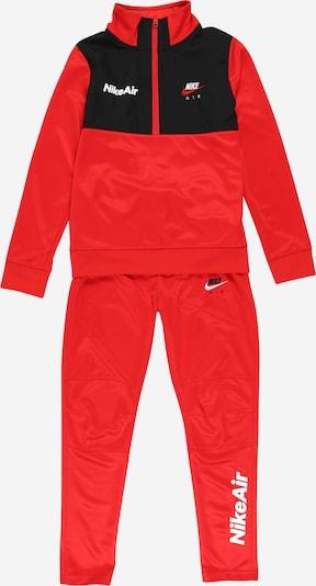Nike Sportswear Trainingsanzug in rot / schwarz / weiß, Produktansicht