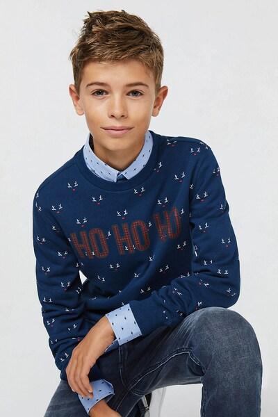 WE Fashion Sweatshirt in blau: Frontalansicht