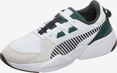 PUMA Sneaker 'Zeta Suede' in dunkelgrün / schwarz / weiß / wollweiß, Produktansicht