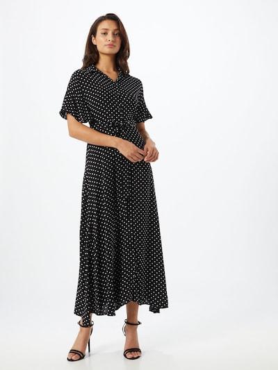 Trendyol Sukienka koszulowa w kolorze czarny / białym: Widok z przodu