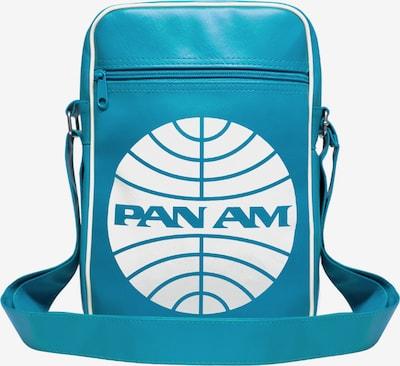 LOGOSHIRT Tasche 'Pan Am - Pan American World Airways' in türkis / weiß, Produktansicht