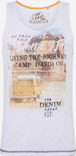 CAMP DAVID Koszulka w kolorze brązowy / żółty / czerwony / czarnym: Widok z przodu