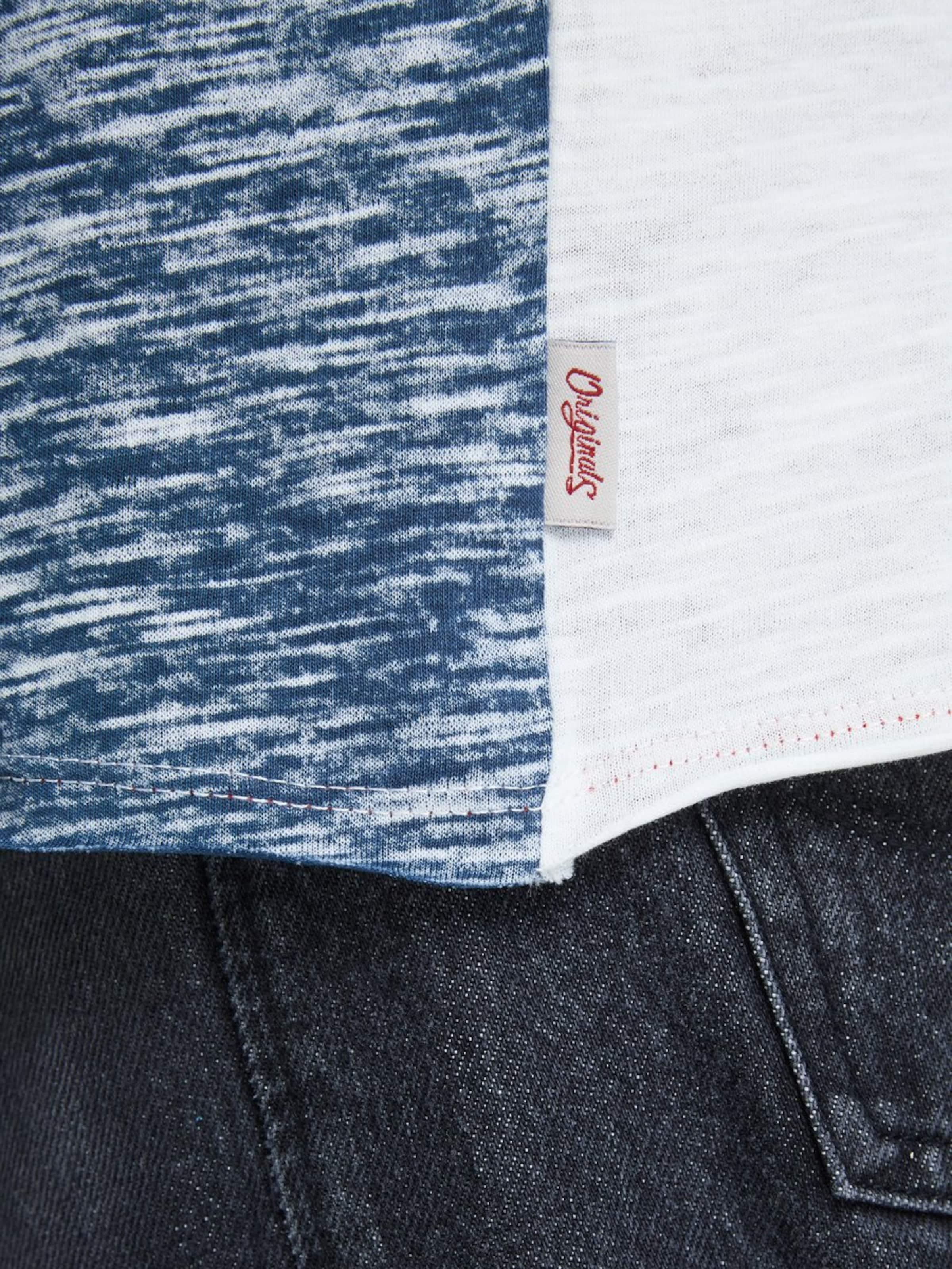 shirt RauchblauPastellblau T Jones In Jackamp; Weiß Ku1c3FJTl