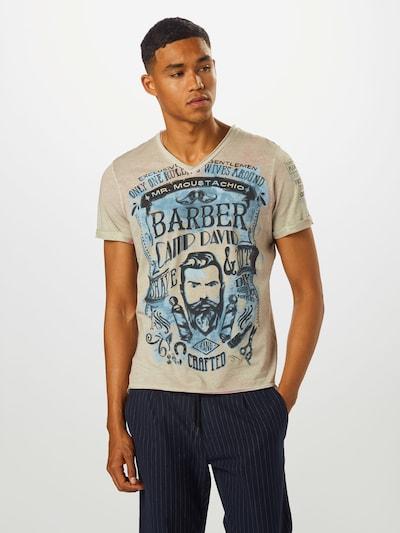 CAMP DAVID T-Shirt en bleu / poudre: Vue de face