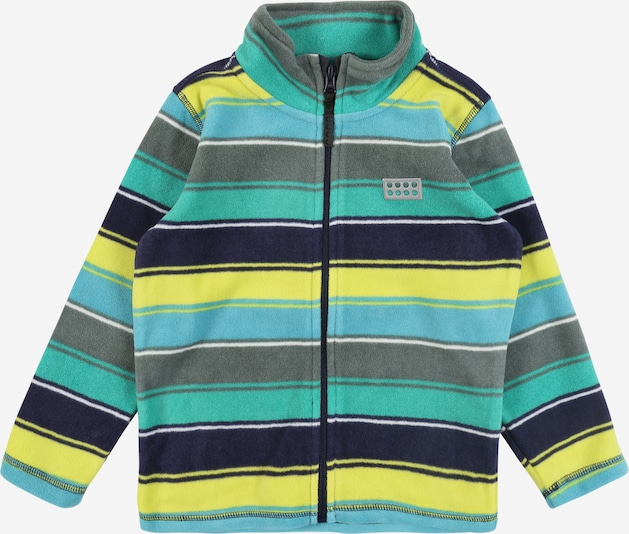 LEGO WEAR Fleece jas 'LWSAM 206 - FLEECE CARDIGAN' in de kleur Navy / Groen, Productweergave