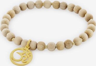 YOGISTAR.COM Armband in beige / gold, Produktansicht