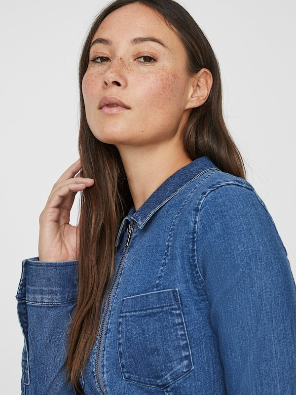 Noisy may Kleid in blue denim, Produktansicht
