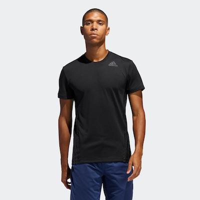 ADIDAS PERFORMANCE Funktionsshirt 'AEO 3s' in grau / schwarz: Frontalansicht