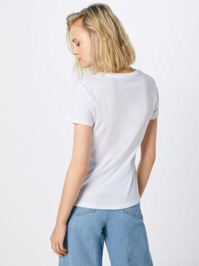 LEVI'S Shirt 'The Perfect Tee' in silber / weiß: Rückansicht