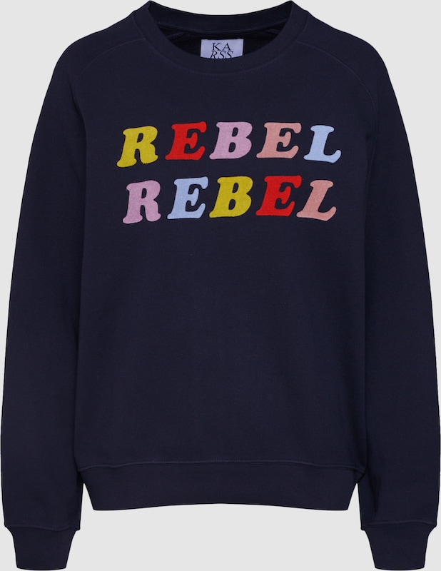 ZOE KARSSEN Sweatshirt 'Lucky Boy' in dunkelblau  Großer Rabatt