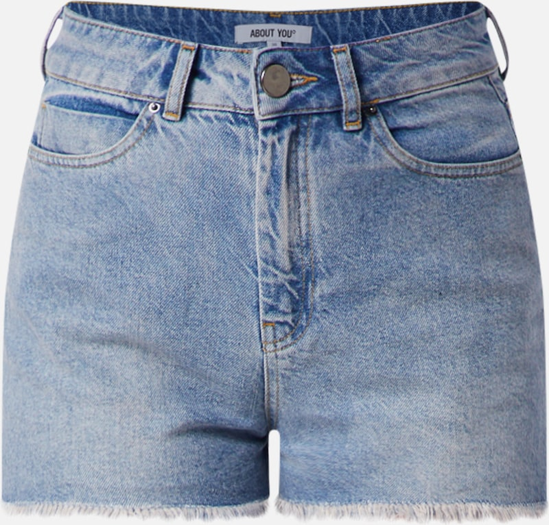 ABOUT YOU Jeans Shorts 'Melisa' in blue denim, Produktansicht
