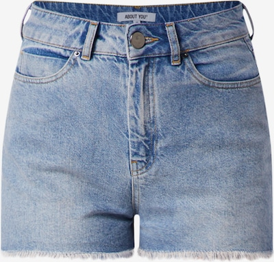 ABOUT YOU Jeans Shorts 'Melisa' in blue denim: Frontalansicht