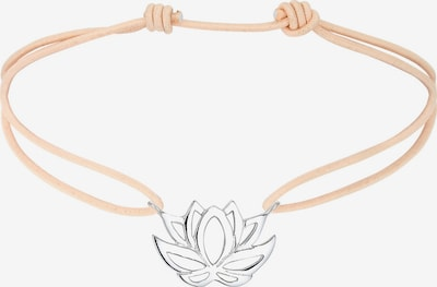 ELLI Armband 'Lotusblume' in camel / silber, Produktansicht
