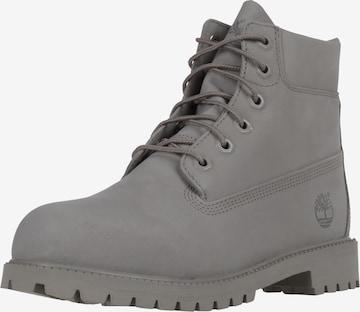 TIMBERLAND Schnürstiefel in Grau