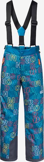 JACK WOLFSKIN Skihose in blau / gelb / pink / weinrot, Produktansicht