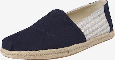 TOMS Espadrilles 'ALPARGATA' in de kleur Beige / Navy, Productweergave