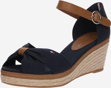 Sandale cu baretă 'Elba' de la TOMMY HILFIGER pe albastru