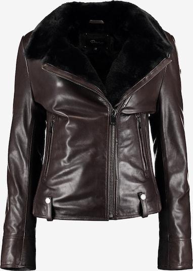 DNR Jackets Lederjacke in dunkelbraun, Produktansicht