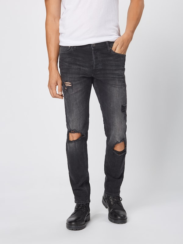 JACK & JONES Jeans 'JJIGLENN JJORIGINAL AM 847' in black denim: Frontalansicht