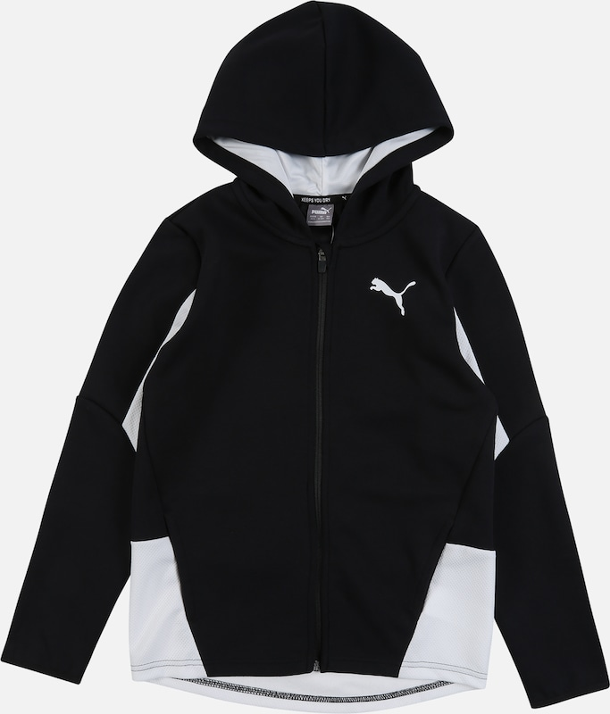 PUMA Sport-Jacke 'Active Sports Hooded Jacket DK B' in schwarz, Produktansicht