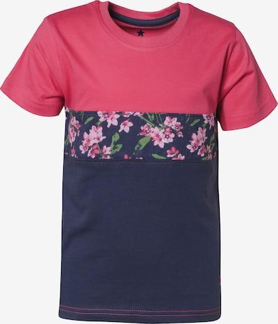 BLUE SEVEN T-Shirt in dunkelblau / pink, Produktansicht