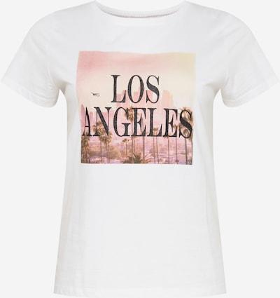 ONLY Carmakoma Shirt 'Inja Life' in altrosa / schwarz / weiß: Frontalansicht