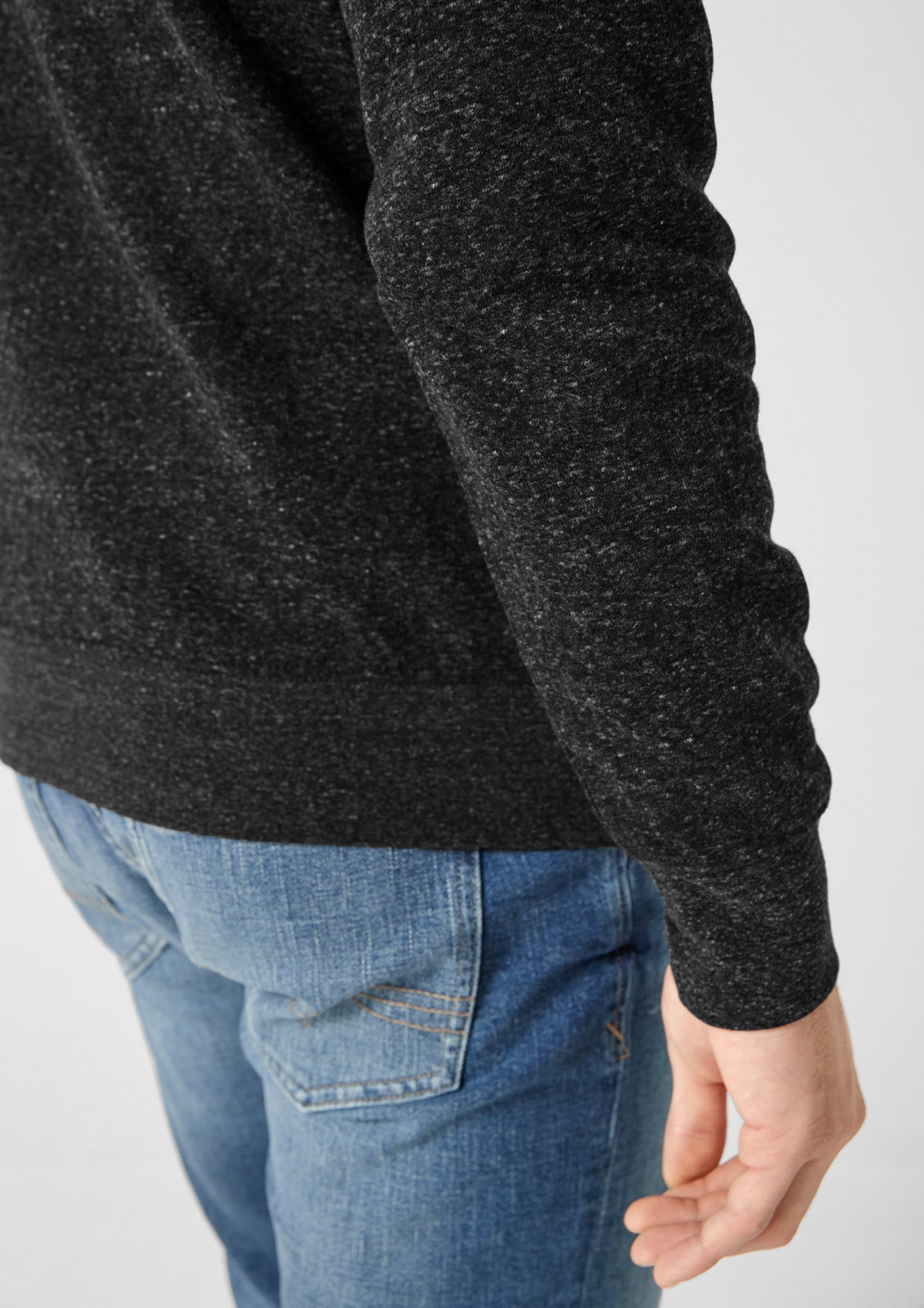 S Schwarzmeliert S oliver Sweatshirt In mOv8n0wN