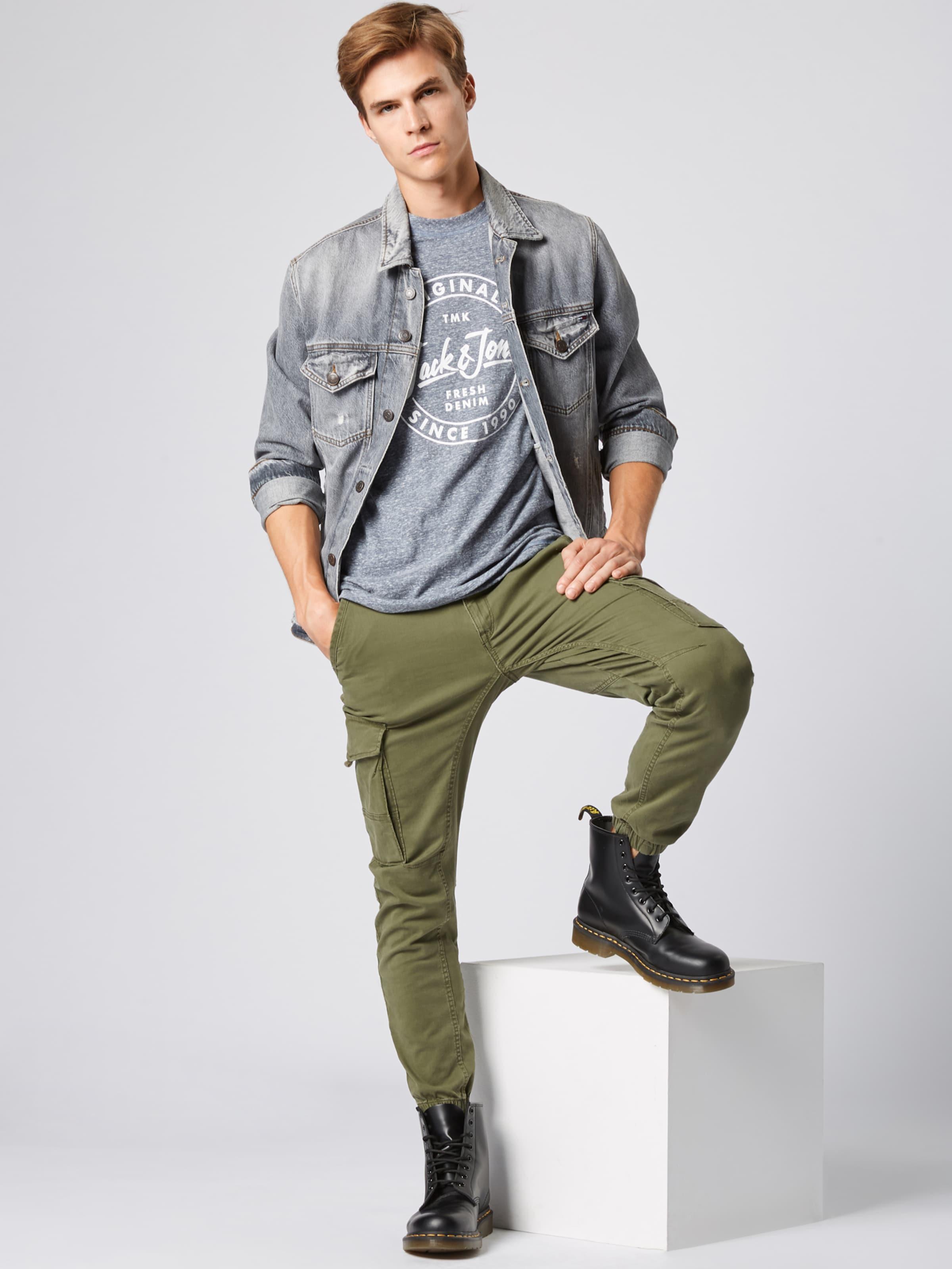Jackamp; Jones shirt T FoncéBlanc 'jorreally' En Bleu UMVpqzLSG