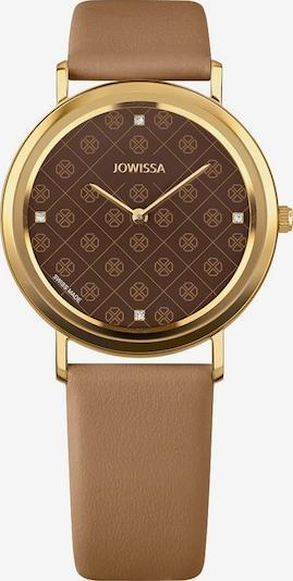 JOWISSA Quarzuhr 'AnWy' Swiss Ladies Watch in braun / gold, Produktansicht
