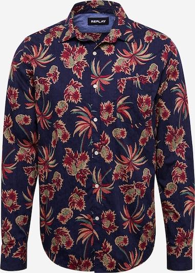 REPLAY Hemd in dunkelblau / mischfarben, Produktansicht