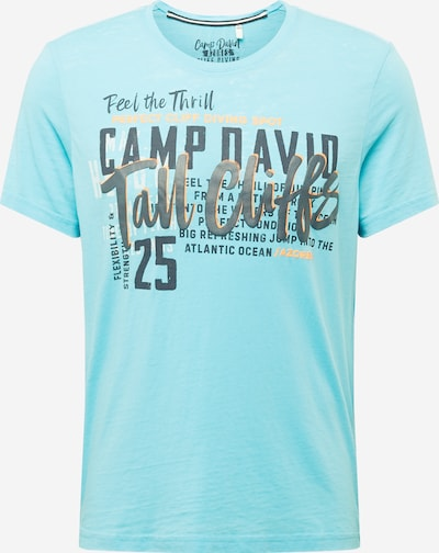 CAMP DAVID Tričko - svetlomodrá / čierna, Produkt