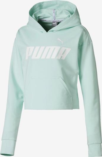 PUMA Kapuzenpullover 'Modern Sports' in pastellgrün / weiß, Produktansicht