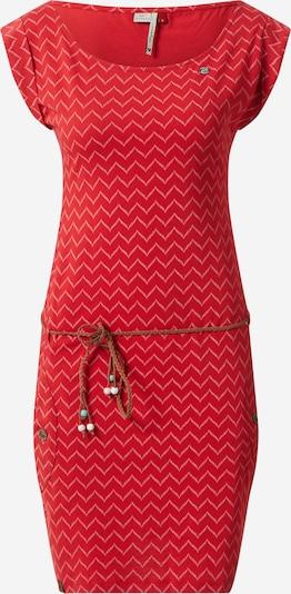 Ragwear Robe d'été 'Tag Zig Zag' en rouge / blanc cassé, Vue avec produit