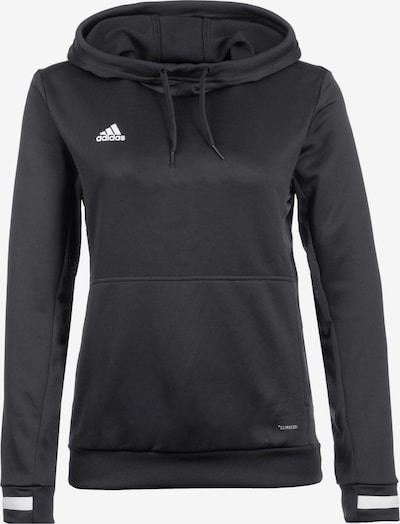 ADIDAS PERFORMANCE Trainingskapuzenpullover 'Team 19' in schwarz / weiß, Produktansicht