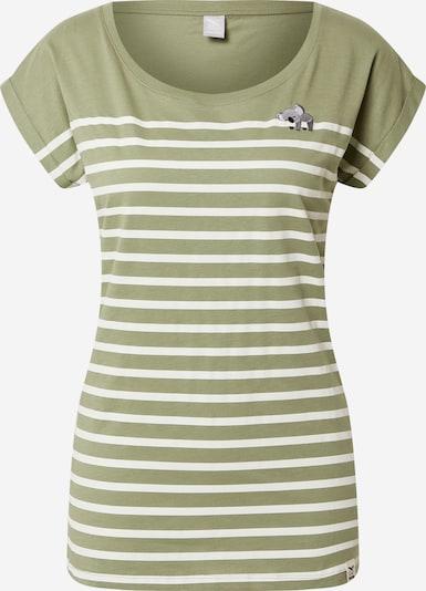 Iriedaily T-shirt 'Koala Stripe' en olive / blanc, Vue avec produit