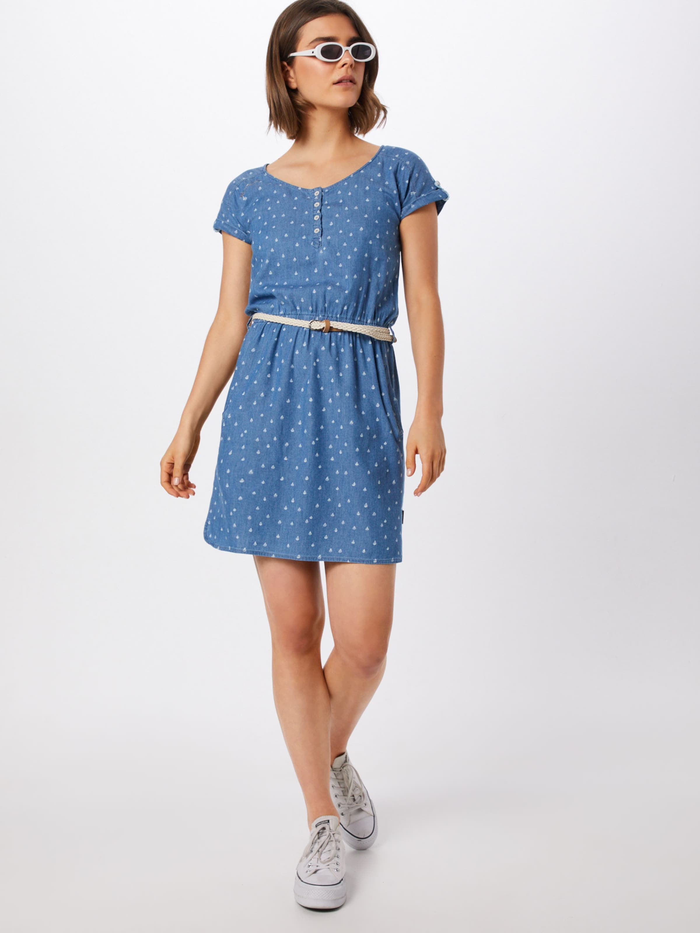 Kleid DenimWeiß Ragwear Blue In 'geena' roCeBWdx