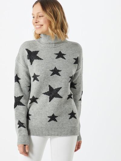 Trendyol Pullover 'Jumper' in grau / schwarz, Modelansicht