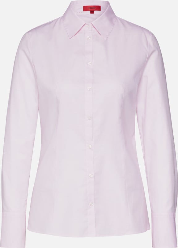 HUGO Bluse 'The Fitted Shirt' in rosa, Produktansicht