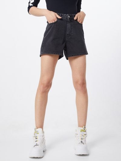 Dr. Denim Shorts 'Jenn' in black denim: Frontalansicht