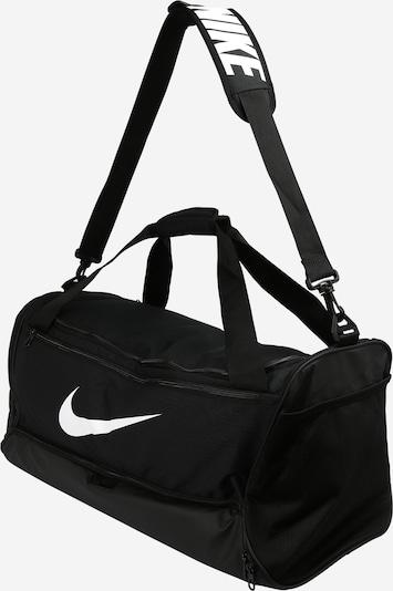 NIKE Sports Bag in Black / White: Side view